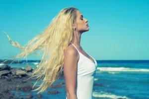 blonde, Women outdoors, Women, Model, Long hair