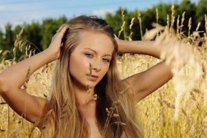 women, Blonde, Nature, Corn