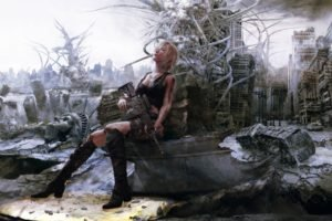 women, Gun, Parasite Eve