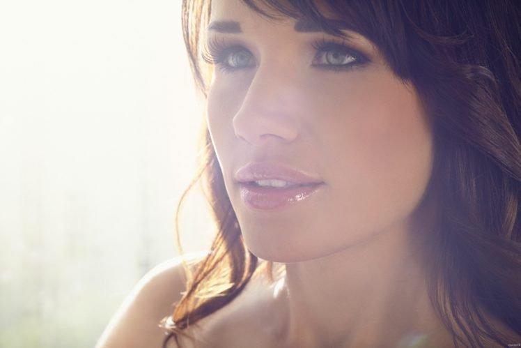women, Playboy, Brunette, Gray eyes, Lips, Model HD Wallpaper Desktop Background