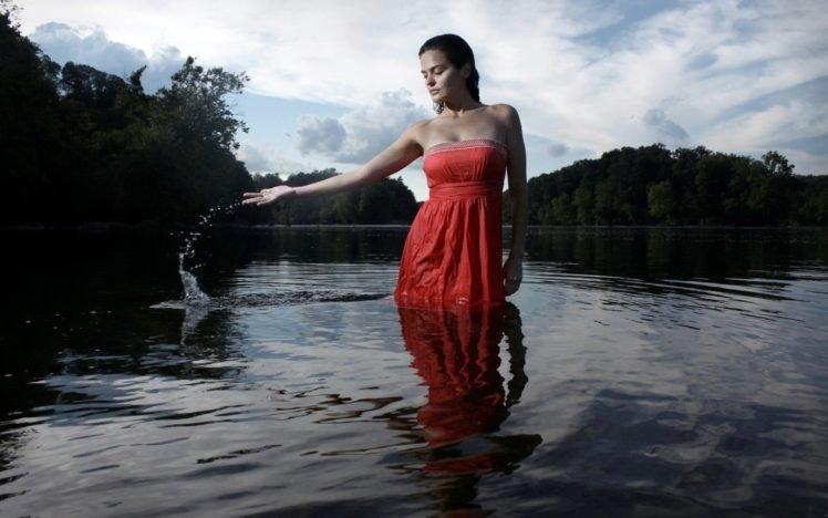 women, Model, Wet clothing HD Wallpaper Desktop Background