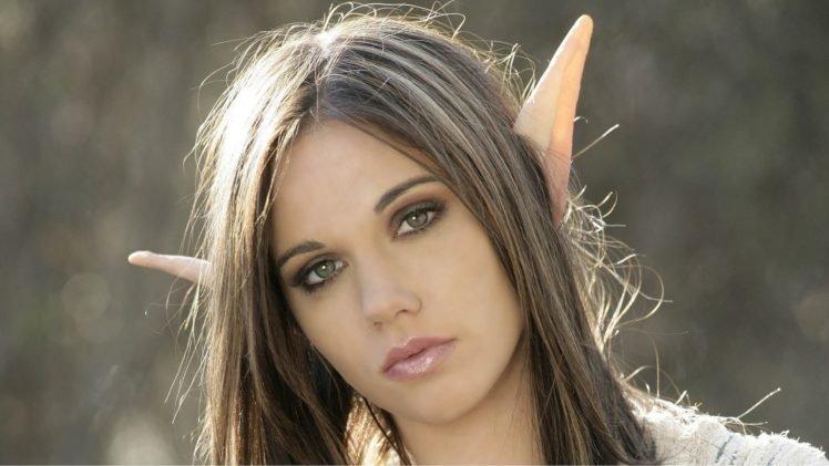 Fantasy Art Elves Wallpapers Hd Desktop And Mobile: Elves, Women, Brunette, Green Eyes, Fantasy Art, Face