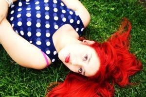 red lipstick, Redhead, Women, Portrait