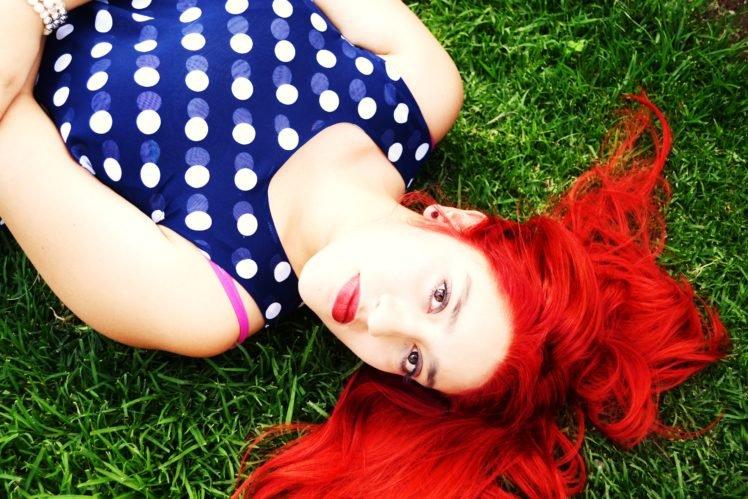 red lipstick, Redhead, Women, Portrait HD Wallpaper Desktop Background