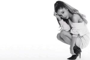women, Monochrome, Ariana Grande