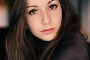 women, Face, Freckles, Brown eyes, Brunette