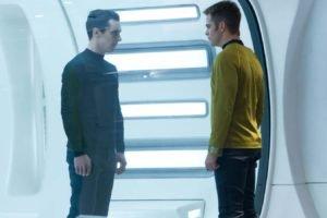 Star Trek Into Darkness, Benedict Cumberbatch, Chris Pine, Khan, James T. Kirk
