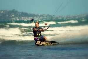 surfing, Beach, Waves, Sea, Sports, Kite surfing