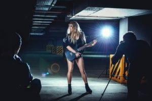 model, Women, Guitar