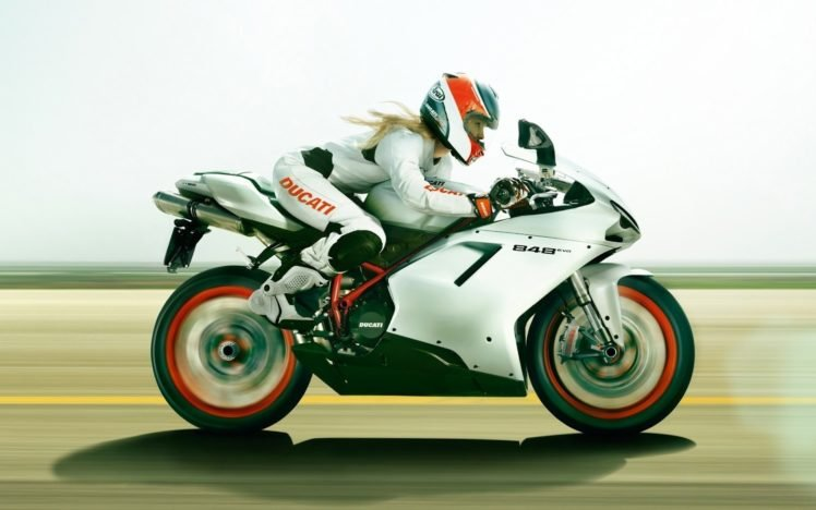 blonde, Ducati 848 EVO HD Wallpaper Desktop Background