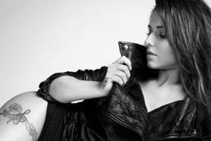 Cheryl Cole, Monochrome, Tattoo, Women