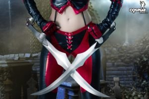 cosplay, Women, Sword, Leather clothing, Leather vest, Leather pants, BloodRayne