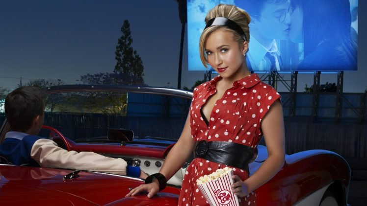 actress, Blonde, Hayden Panettiere, Popcorn HD Wallpaper Desktop Background