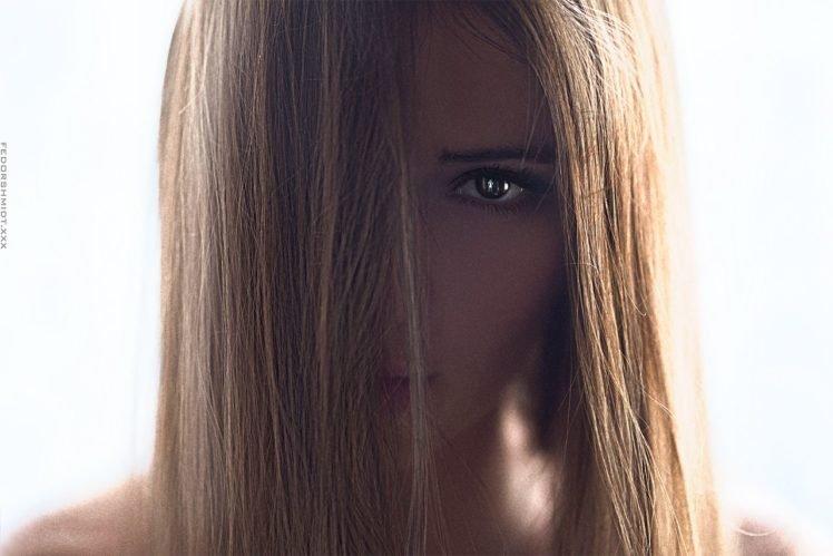 women, Brunette, Face, Model, Fedor Shmidt HD Wallpaper Desktop Background