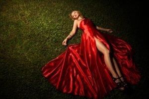 red dress, Women, Model
