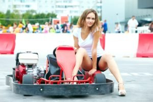 Zlatka A, Women, Brunette, Model, Kart, Blue eyes, Shorts, Legs, High heels, T shirt
