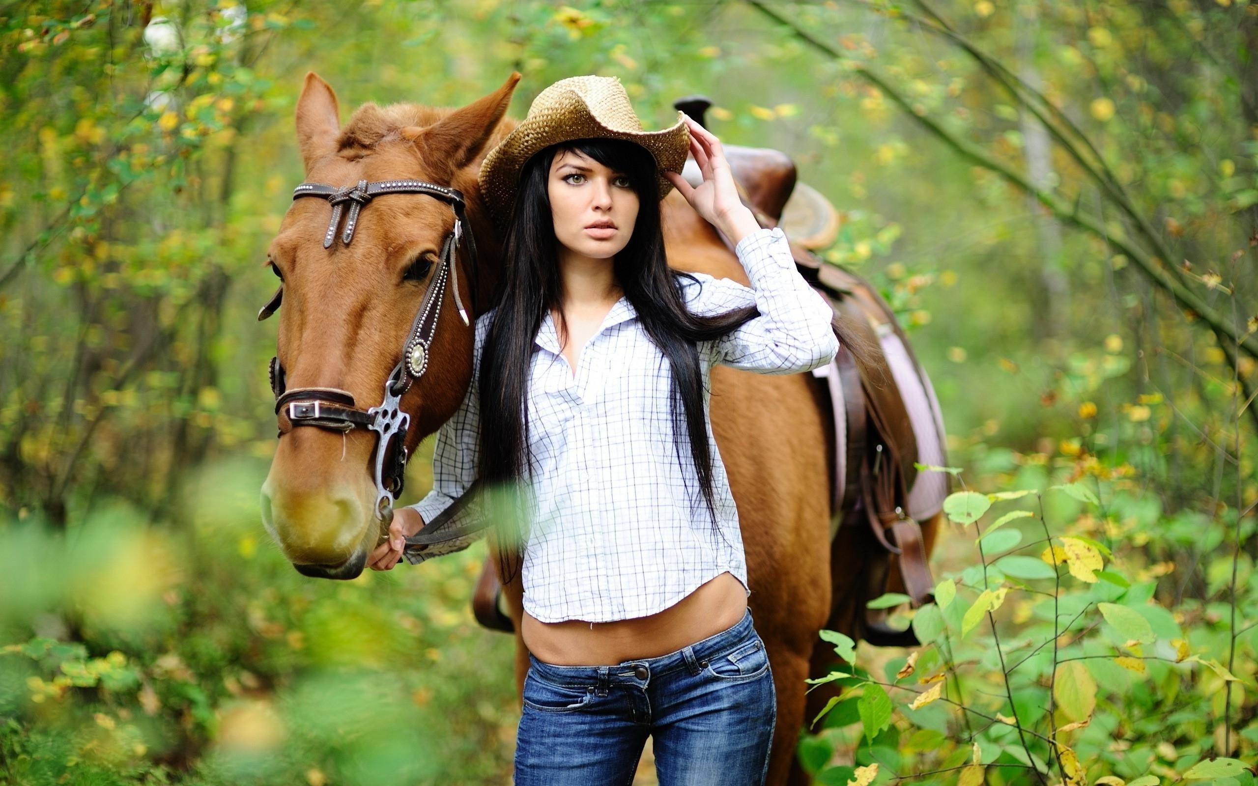 Women horses wallpaper   2560x1600   12195   WallpaperUP