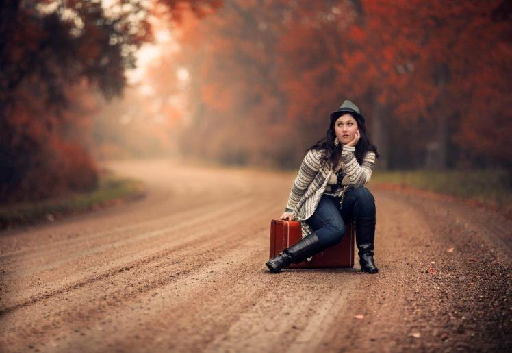 women, Model, Road, Women outdoors, Path, Dirt road HD Wallpaper Desktop Background