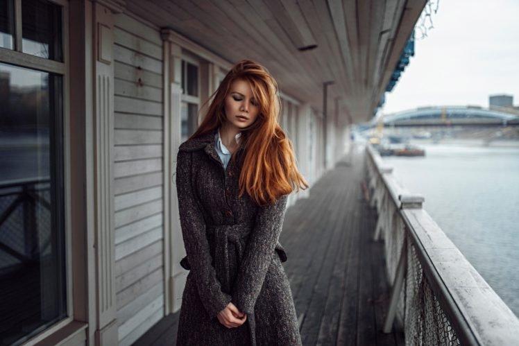 women, Alone, Redhead HD Wallpaper Desktop Background