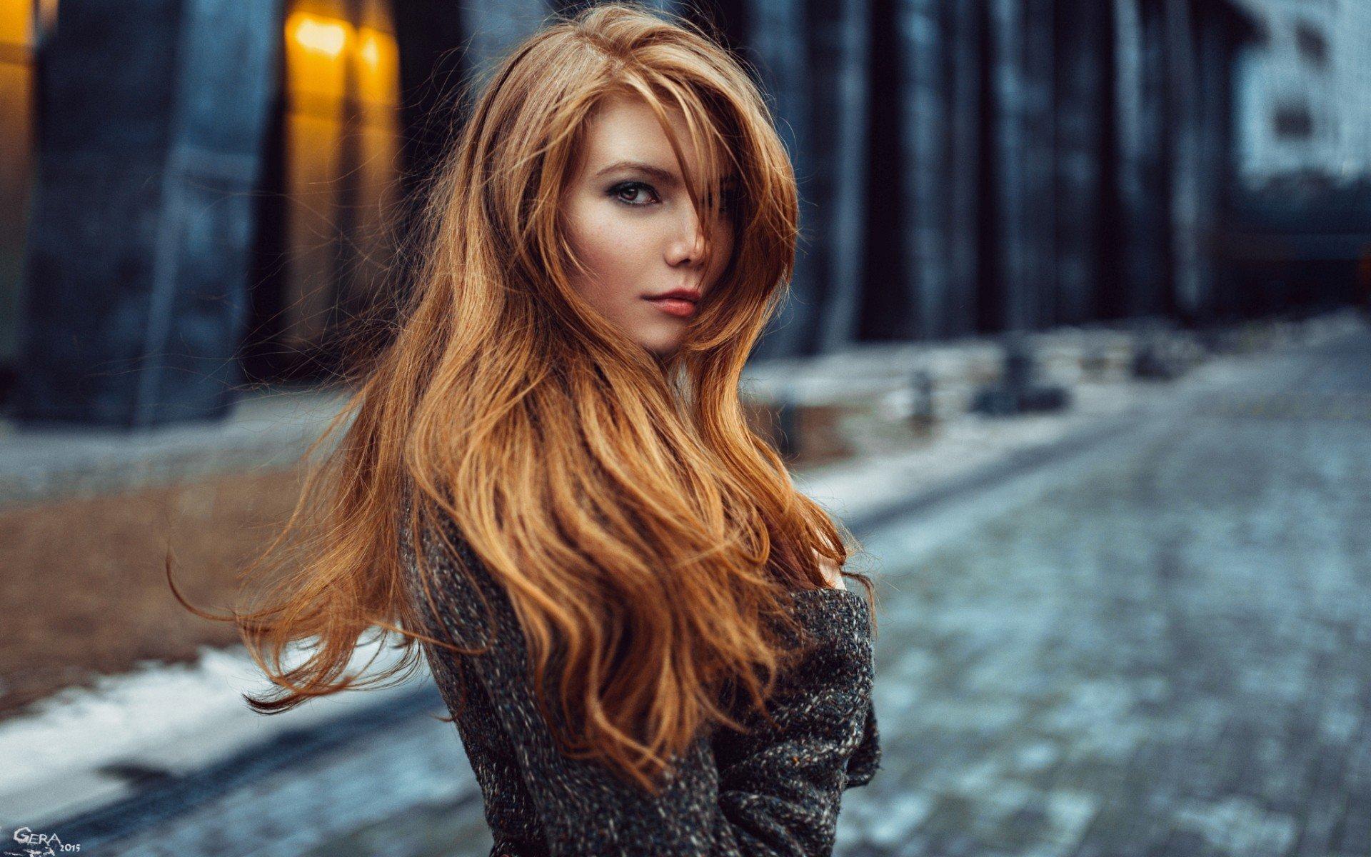 Wallpaper : face, model, city, long hair, glasses