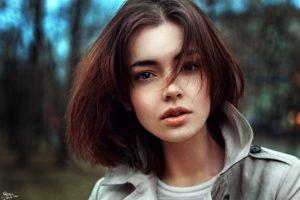 women, Short hair, Brown eyes, Georgiy Chernyadyev