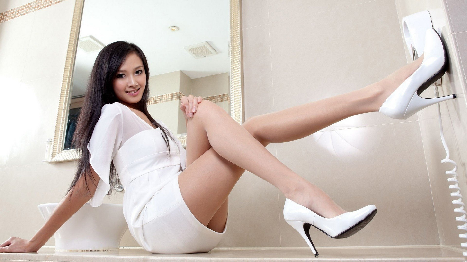 women, Asian, High heels HD Wallpapers / Desktop and ...