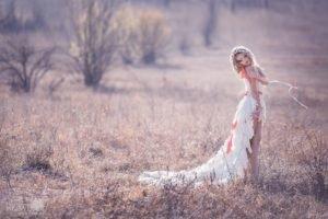 women, Model, Blonde, Curly hair, White dress, Legs, Makeup, Women outdoors