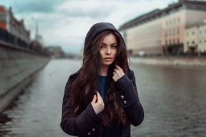women, Brunette, Model