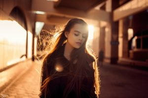 women, Brunette, Model, Long hair, Photography, Ekaterina Kuznetsova, Sunlight