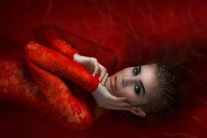 model, Women, Red