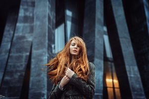 women, Redhead, Long hair, Women outdoors, Georgiy Chernyadyev