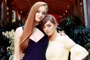 Sophie Turner, Maisie Williams, Women, Brunette, Redhead