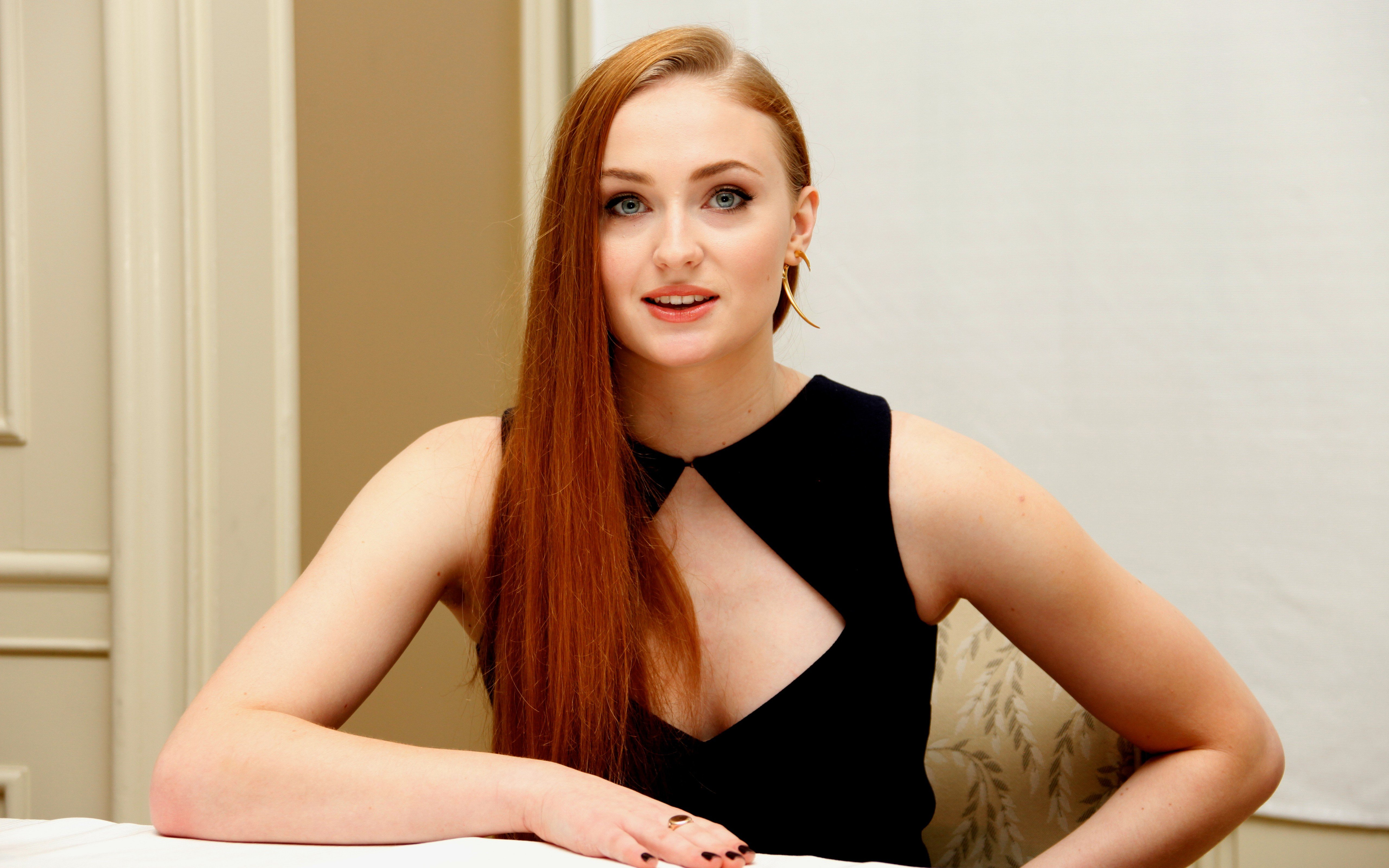 Sophie Turner, Women, Redhead, Boobs Hd Wallpapers -6747