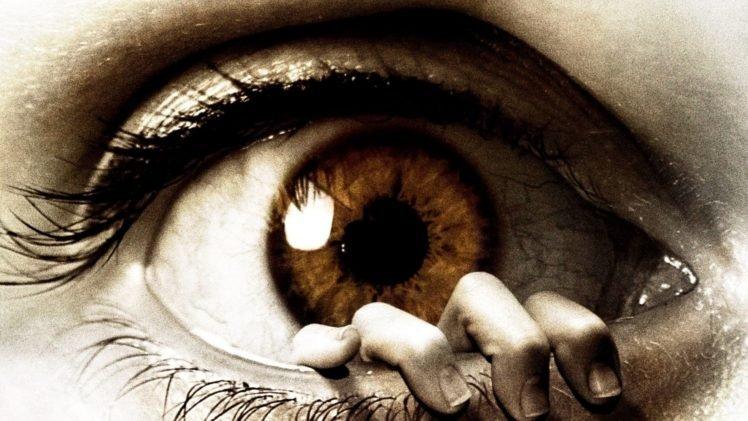 photo manipulation, Artwork, Eyes, Macro, Detailed, Reflection, Digital art, Brown eyes, Hand HD Wallpaper Desktop Background