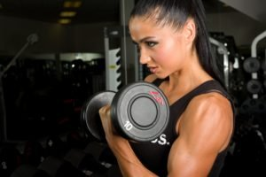sports, Women, Fitness model, Dumbbells
