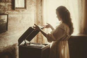 model, Sepia, Music, Women