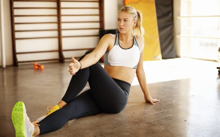 Maria Sharapova, Nike, Blonde HD Wallpaper Desktop Background