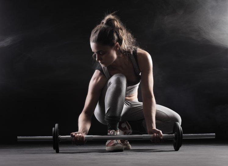 women, Model, Sports, Fitness model, Barbell HD Wallpaper Desktop Background