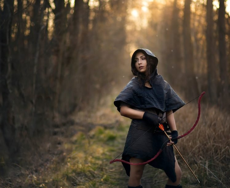 women, Nature, Arrows, Bows, Archers HD Wallpaper Desktop Background