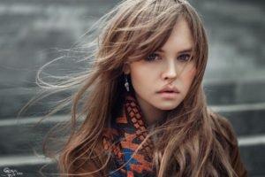 women, Model, Auburn hair, Juicy lips, Portrait, Georgiy Chernyadyev, Anastasia Scheglova
