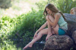 women, Model, Barefoot