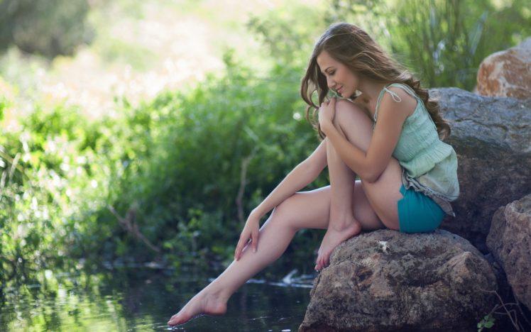women, Model, Barefoot HD Wallpaper Desktop Background