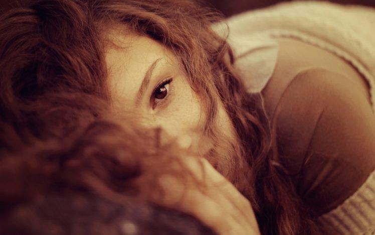 anime, Redhead, Curly hair, Women, Brunette HD Wallpaper Desktop Background