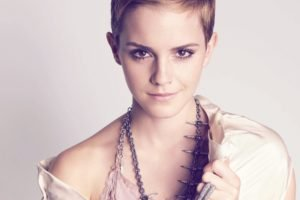women, Emma Watson, Short hair, Face