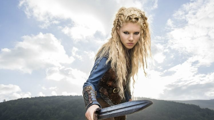 Vikings (TV series), Lagertha Lothbrok, Katheryn Winnick, Blonde, Women, Actress, Model HD Wallpaper Desktop Background