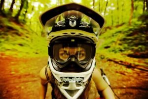 helmet, Forest, Closeup, Women
