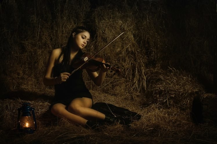 violin, Music, Women, Brunette HD Wallpaper Desktop Background