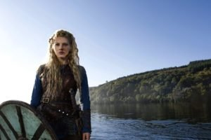 Vikings (TV series), Vikings, Lagertha Lothbrok, Katheryn Winnick, Women, Blonde, Shields, Sword