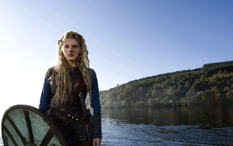 Vikings (TV series), Vikings, Lagertha Lothbrok, Katheryn Winnick, Women, Blonde, Shields, Sword HD Wallpaper Desktop Background