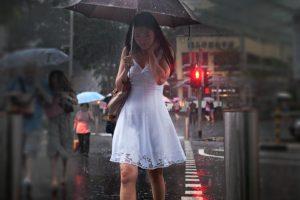 rain, Women, Asian